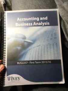 Accounting and Business Analysis 2257