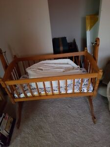 36 year old wooden cradle for sale in great condition