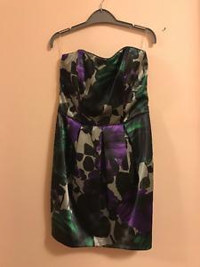 Purple/black Tight Strapless Dress