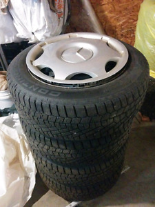 New pure winter Continental tires on Mercedes rims 205/55/r16