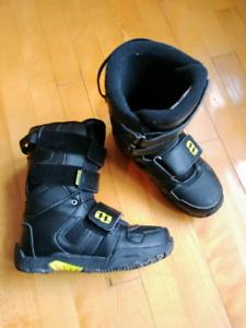Bottes planche à neige Jr - Morrow Gr. 5 - noir