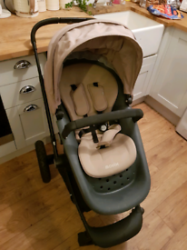 Travel System Pram Stroller Carry Cot Mothercare