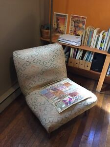 Solid antique chair.
