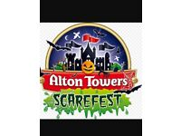 Alton Towers Scarefest Tickets X 4 Saturday 28th October £80.