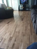 100sq feet pre finished hardwood floor