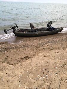 12 FT NUCANOE FRONTIER FISHING KAYAK.GREAT DEAL!