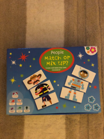Kids people match or mix up characters