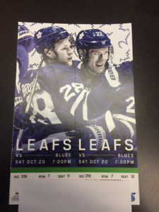 Toronto Maple Leafs vs St.Louis Blues Saturday October 20th @7pm