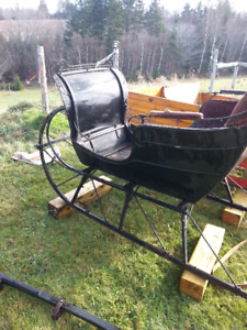 Antique working gent sleigh and great shaft new pictures