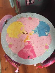 Princess play table and chairs