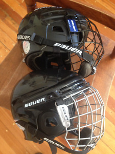 Bauer Hockey helmets with Cages
