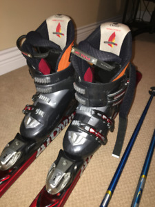 Skis + Boots + Poles