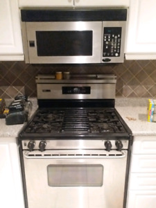 Frigidaire appliances stainless steel / black
