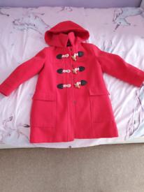 Red John Lewis Duffle Coat Age 5