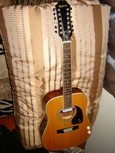 12 String Epiphone with electric pick up