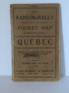 Carte de poche du Québec 1912 / Quebec Pocket Map from 1912
