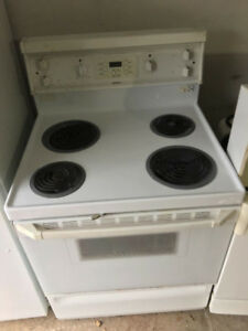 "hot point white 30"" electric coil stove range oven"