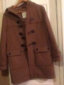 Men's new brown duffel coat