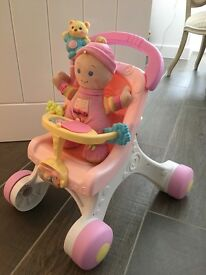 Fisher Price Baby's 1st Doll Stroll Along Walker