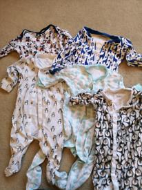 Baby sleepsuits bundle 3-6months
