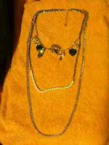 Double Necklace with Charms