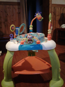 Evenflo exersaucer and fisher-price activity  jumper