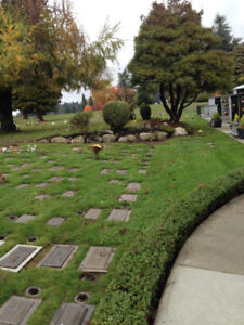2 individual Cremation plots with internment-Oceanview Cemetery