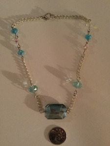 Blue Stone Short Necklace