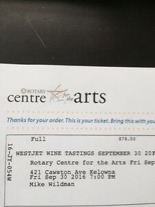 Sold out!!! WESTJET WINE TASTING SEPT. 30th