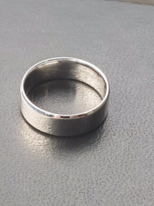 Mens white gold band