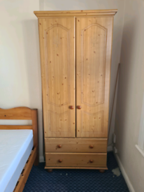 2 wardrobes and bed
