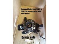 Vauxhall Zafira full hub bearing with ABS sensor