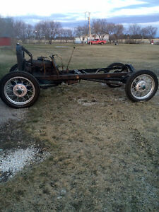 1928 Ford model A frame and running gear