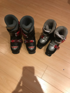 2 Pairs of HEAD SKI BOOTS for KIDS-EXCELLENT CONDITION
