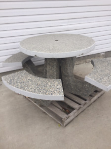 Belcarra Round Concrete Picnic Table from Burnco