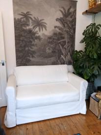 Ikea Hagalund white sofa bed - like new