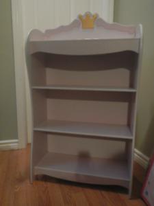 princess pink book/toy shelving unit