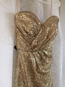 Golden Graduation Dress