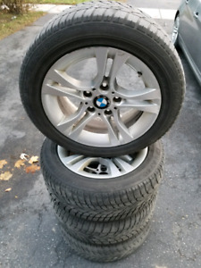 16 BMW rims with Dunlop winter tires