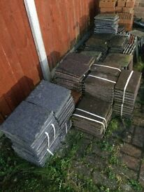 Huge job lot of dorma tiles various sizes and colours