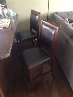Leather/wood chairs