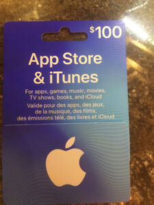 $100.00 Apple App & iTune cards for sale $85.00 or trade.