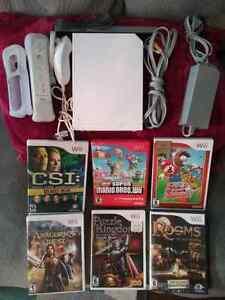 Nintendo WII COMPLETE BUNDLE WITH 6 GAMES MARIO