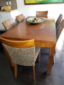 Solid wood Dinning Table set for six …. Great opportunity
