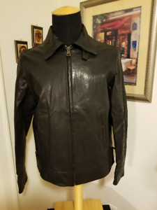 Men's Versace collection leather jacket