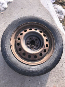 GoodYear Used Winter Tires with Rims 195/60R15