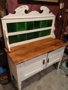 Shabby chic farm house chalk paint side board.