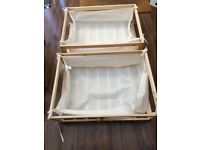 2 X WHEELED UNDERBED STORAGE DRAWERS