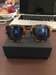 Persol Sunglasses PO9714S New Madreterra/Blue Polarized