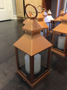 accent centrepiece lantern rose gold (24 units)